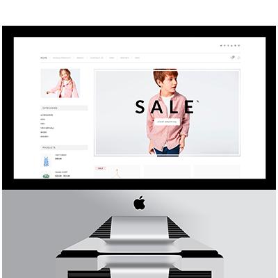 diseño página web ropa