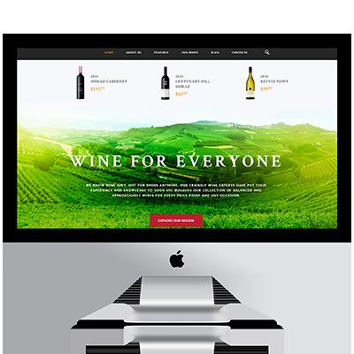 Diseño web tienda de vinos