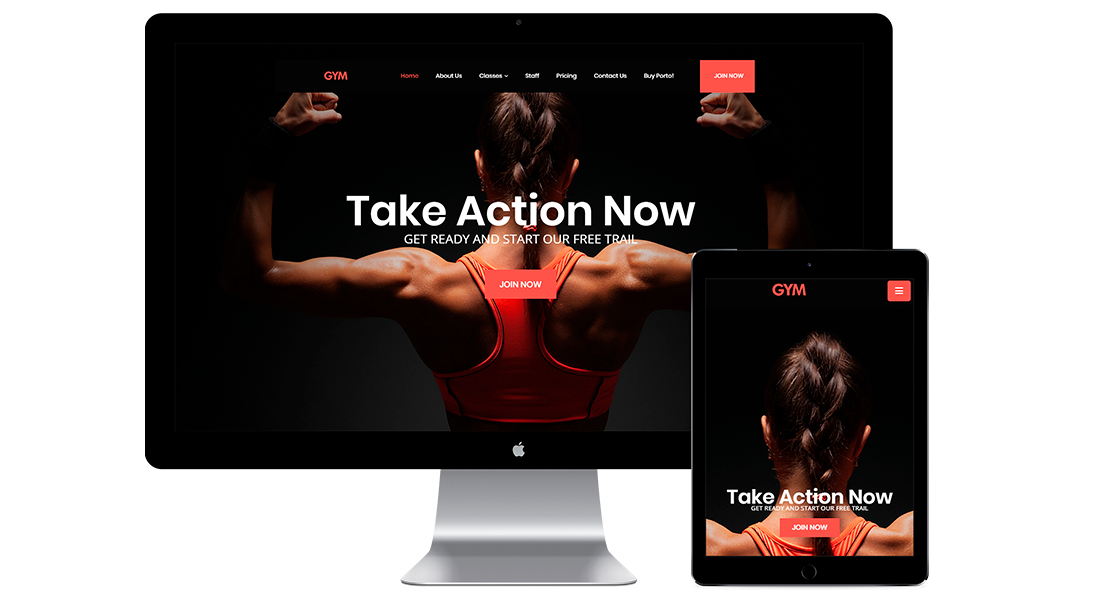 Diseño web para gimnasios