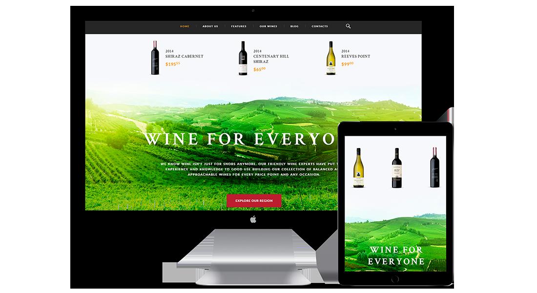 Diseño web para tienda de vinos